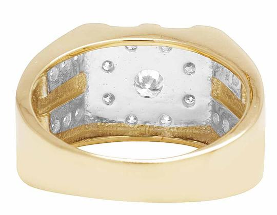 Jewelry Unlimited 10K Yellow Gold Real Diamond Mens Designer Pinky Statement Ring 1.25ct Image 1