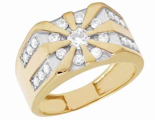 Jewelry Unlimited 10K Yellow Gold Real Diamond Mens Designer Pinky Statement Ring 1.25ct Image 4