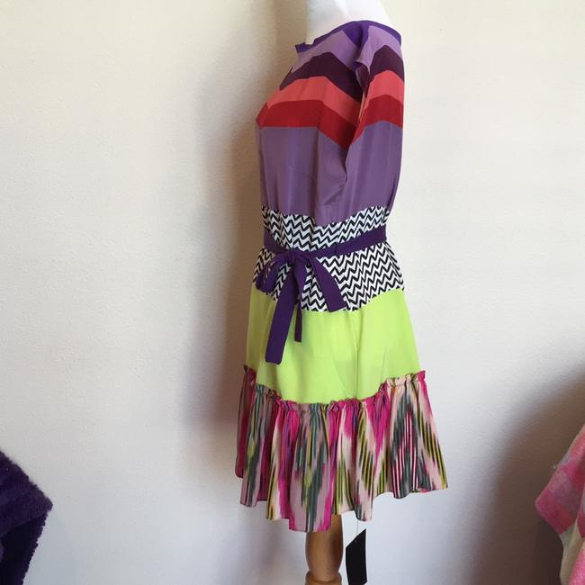 Nanette Lepore short dress purple green pink red multicolor on Tradesy Image 1