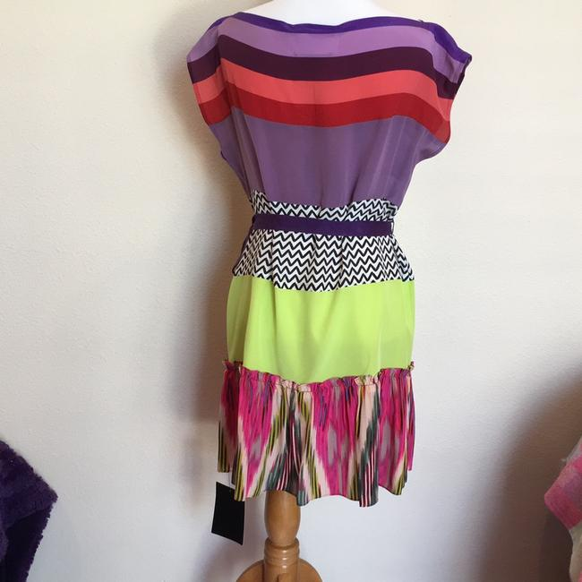 Nanette Lepore short dress purple green pink red multicolor on Tradesy Image 2