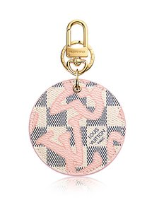 Louis Vuitton Louis Vuitton Pink ILLUSTRE TAHITIENNE BAG CHARM Damier Azur