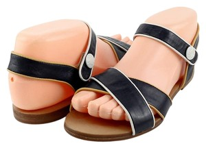 See by Chloé Strappy Comfortable Eur 36 Navy Blue Yellow Latte Sandals