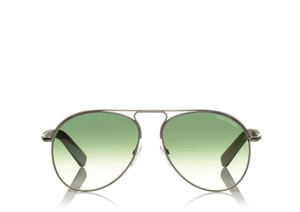 Tom Ford NEW Tom Ford Cody Silver Green Aviator Sunglasses