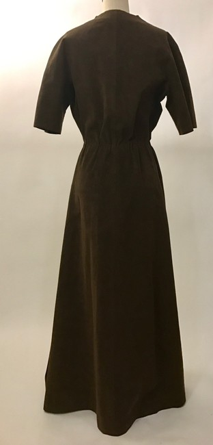 Brown Maxi Dress by Halston Image 3