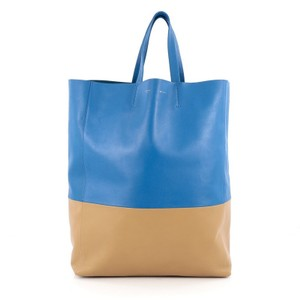 Cline Leather Tote in bi-color