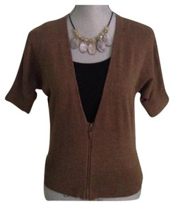 Ann Taylor LOFT The Brown Zip Up Sweatshirt