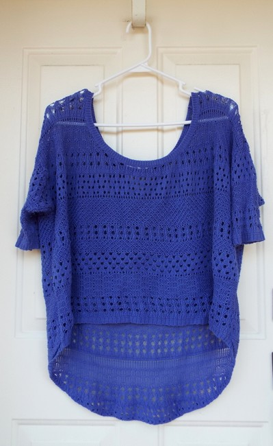 Degree High Low Knit Scoop Casual Comfortable Top blue, purple Image 1