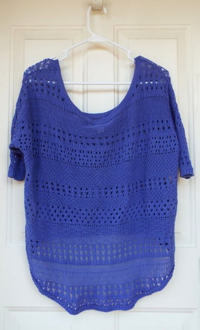 Degree High Low Knit Scoop Casual Comfortable Top blue, purple Image 2