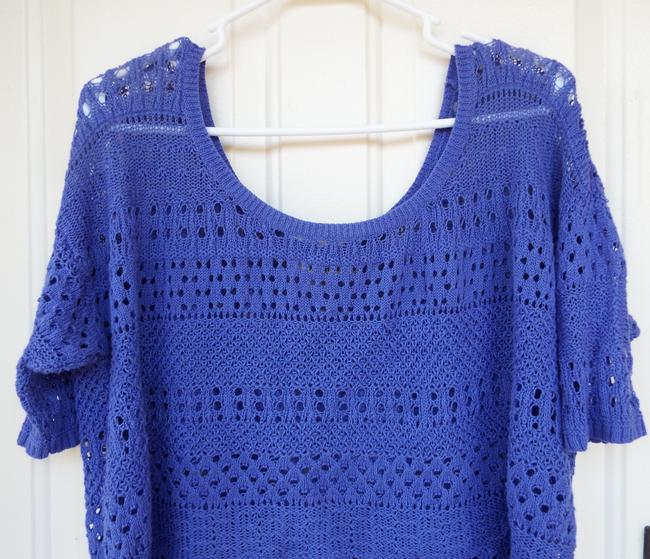 Degree High Low Knit Scoop Casual Comfortable Top blue, purple Image 3