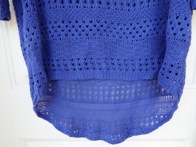 Degree High Low Knit Scoop Casual Comfortable Top blue, purple Image 4