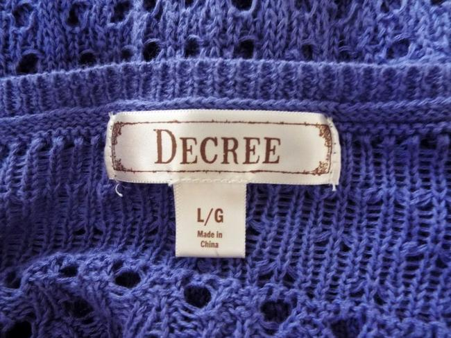 Degree High Low Knit Scoop Casual Comfortable Top blue, purple Image 6