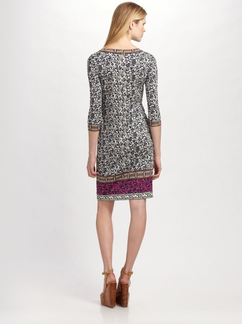 Tory Burch Silk Jersey Carmela Geometric Print Sheath Tunic Dress Image 1