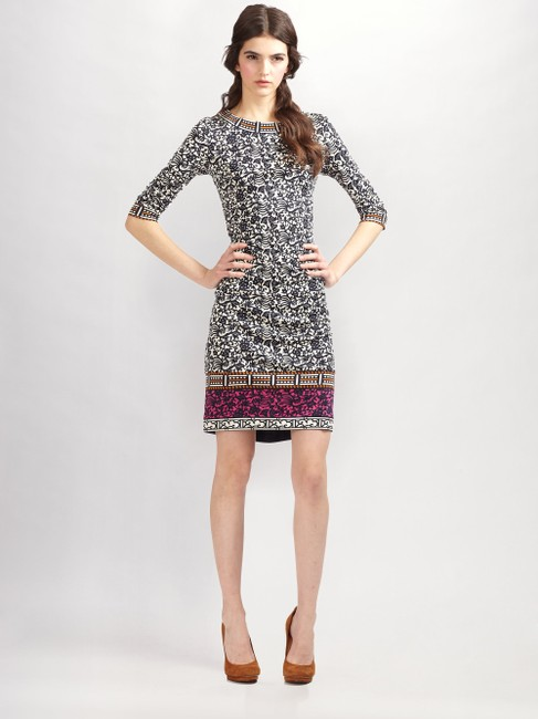 Tory Burch Silk Jersey Carmela Geometric Print Sheath Tunic Dress Image 2