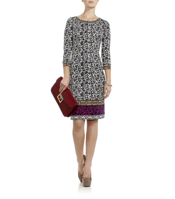 Tory Burch Silk Jersey Carmela Geometric Print Sheath Tunic Dress Image 5