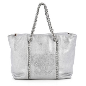 Chanel Leather Tote in Silver