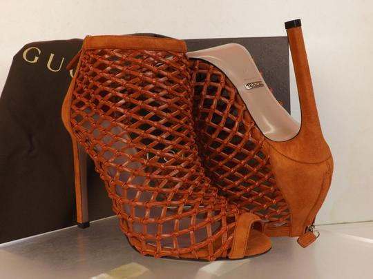Gucci Old Whisky Orange Boots Image 10