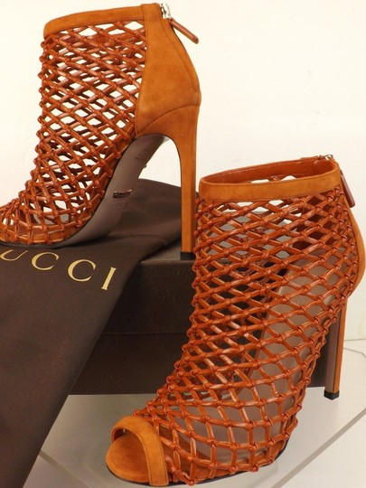 Gucci Old Whisky Orange Boots Image 11