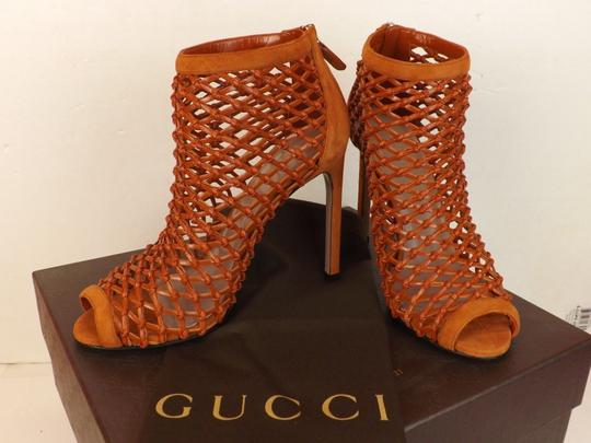 Gucci Old Whisky Orange Boots Image 5