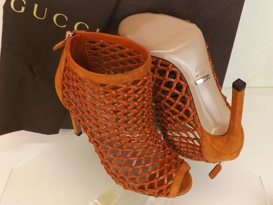 Gucci Old Whisky Orange Boots Image 6