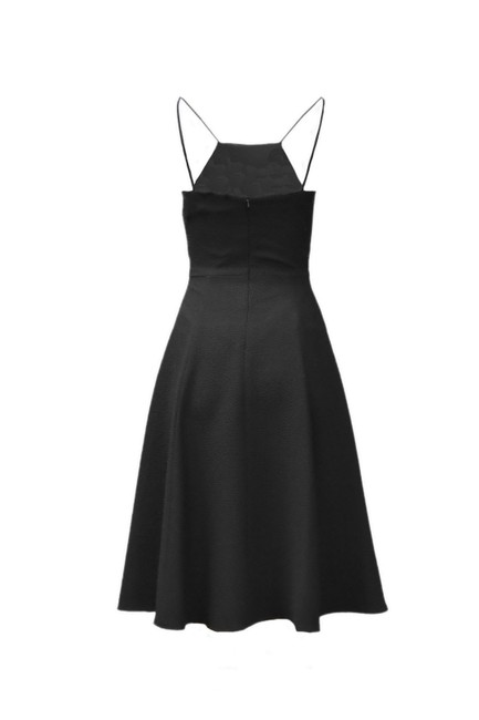 Black Halo Lined Textured Fabric Dress Image 1