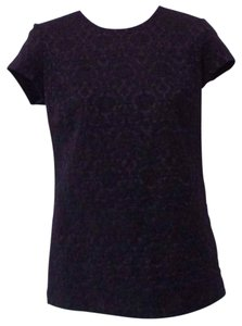 Bailey 44 Lace Textured Night Out T Shirt Black