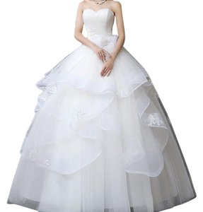 Sweetheart Tulle Wedding Ball Gown Dress Wedding Dress