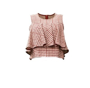 Prose & Poetry Top Poppy red