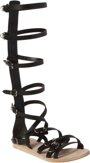 Balenciaga Leather Gladiator Black Sandals Image 0