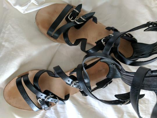 Balenciaga Leather Gladiator Black Sandals Image 4