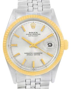 Rolex Rolex Datejust Vintage Mens Stainless Steel 14K Yellow Gold Watch 1601