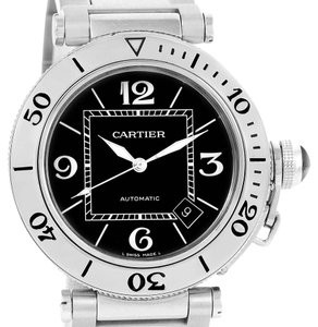 Cartier Cartier Pasha Seatimer Black Dial Stainless Steel Watch W31077M7