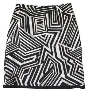 Etcetera Graphic Print Skirt black and white