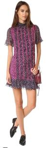 Diane von Furstenberg short dress PIROUETTE DOT Sebina Ruffled Knit Dvf on Tradesy