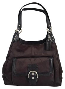 Coach Very Rare Metallic Shimmer Signature Leather Shoulder Bag