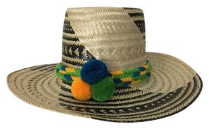 Wayuu Tribe Wayuu Hats with Colorful Pom Pom Band