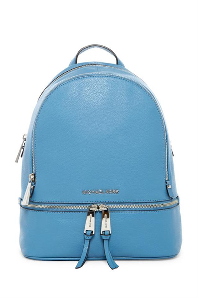 e8b50878a53d Michael Kors - Rhea Zip Small Sky Leather Backpack - Tradesy