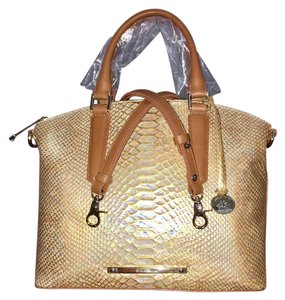 Brahmin Medium Year Round Priced Nwt Satchel in Fire Opal Opalescent Light Reflecting Colors