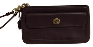 Coach Wristlet in Brown with gold hardware