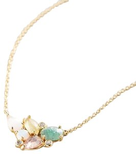 Anthropologie NWT Opal Cluster Necklace