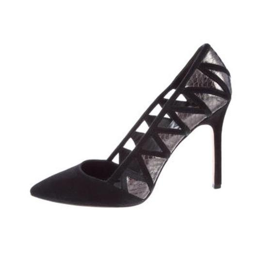 B Brian Atwood Black, Silver Pumps Image 1