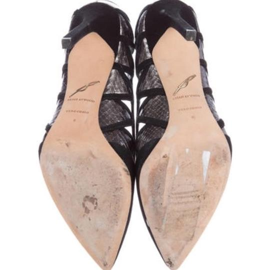 B Brian Atwood Black, Silver Pumps Image 4