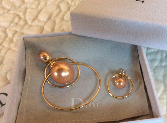 Dior Dior Double Ring Gold Pink earrings Image 1