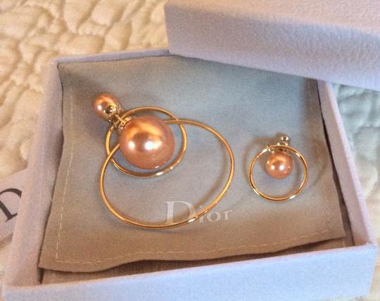 Dior Dior Double Ring Gold Pink earrings Image 2