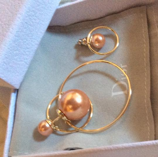 Dior Dior Double Ring Gold Pink earrings Image 3