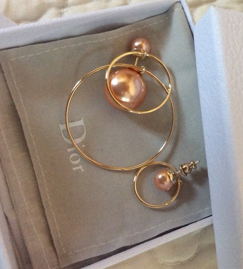 Dior Dior Double Ring Gold Pink earrings Image 4