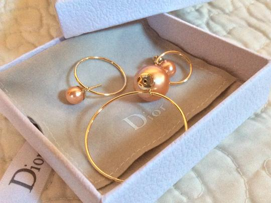 Dior Dior Double Ring Gold Pink earrings Image 5