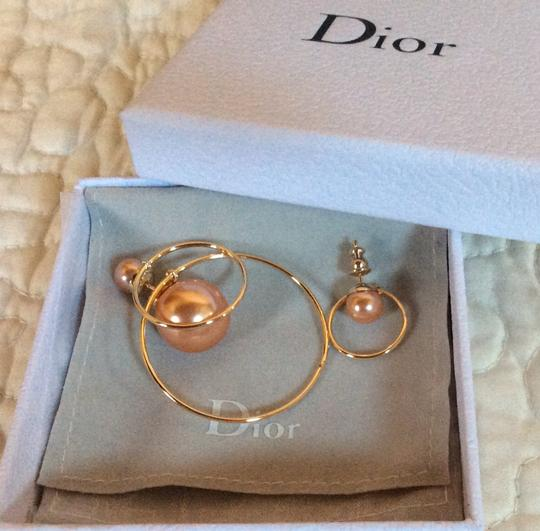 Dior Dior Double Ring Gold Pink earrings Image 7