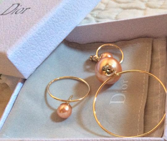 Dior Dior Double Ring Gold Pink earrings Image 8