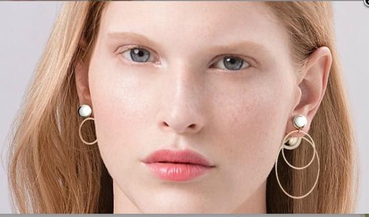 Dior Dior Double Ring Gold Pink earrings Image 9