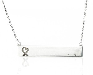 Tiffany & Co. * Paloma Picasso Breast Cancer Foundation Ribbon Tag Silver